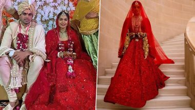 Babita Phogat's Shimmery Red Wedding Lehenga Has a Striking Similarity With That of Priyanka Chopra's Sabyasachi Mukherjee Outfit! (View Pics)