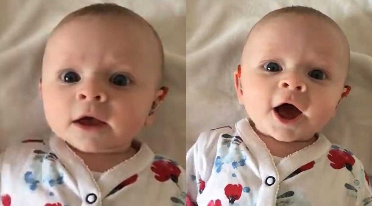 Severely Deaf Baby Daughter's Adorable Squeaking After Using Hearing Aid Is Simply Adorable (Watch Video)