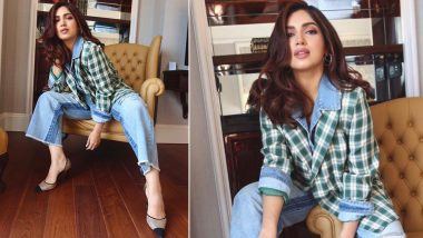 Thrifty Style: Bhumi Pednekar Says a Nippy Hello in an Oversized Checkered Denim Jacket, All We Can Say Is We Want It Too!