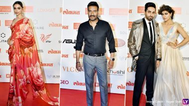 Lokmat Most Stylish Awards 2019: Deepika Padukone, Ajay Devgn, Ayushmann Khurrana and Other Celebs Deck Up and Attend the Starry Ceremony (View Pics)
