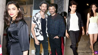 Deepika Padukone, Hrithik Roshan, Kartik Aaryan, Ananya Panday and Other Bollywood Stars Party Hard Under One Roof! (View Pics)
