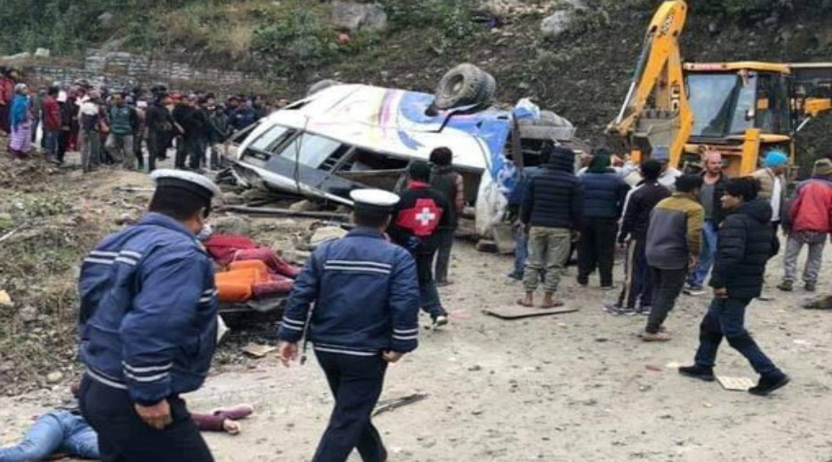 Nepal: Passenger Bus Veers off Road in Sindhupalchok District, 14 Killed, 18 Injured