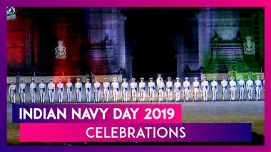Indian Navy Day 2019: Beating Retreat, Tattoo Ceremony Dazzle The Gateway Of India