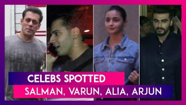 Salman Khan, Varun Dhawan, Alia Bhatt & Others Seen In The City | Celebs Spotted