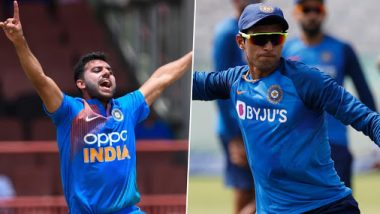 Deepak Chahar Ruled Out of India vs West Indies 3rd ODI 2019 Due to an Injury, Navdeep Saini Named Replacement
