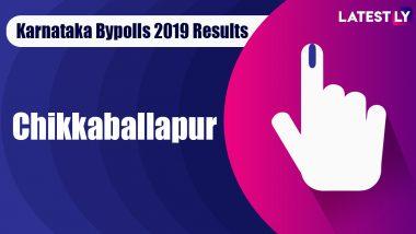 Chikkaballapur Bypoll 2019 Result For Karnataka Assembly Live: Dr K Sudhakar of BJP Leading