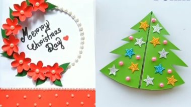 Christmas 2019 Greeting Cards: 5 Beautiful DIY XMas Card Ideas to Make and Wish On The Festival (Watch Videos)
