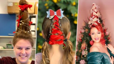Christmas Tree Hair Trend Takes Over Social Media, Beautiful Pics of Unique Hairstyle Celebrate the Festive Season