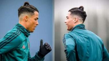 Cristiano Ronaldo Spotted with a Ponytail at Juventus Training Session, Fans Compare it to Gareth Bale