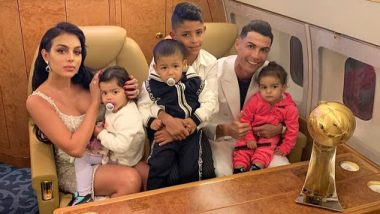 Cristiano Ronaldo Shares Family Photo, Flaunts 2019 Dubai Globe Soccer Men's Player Of the Year Award; View Pic