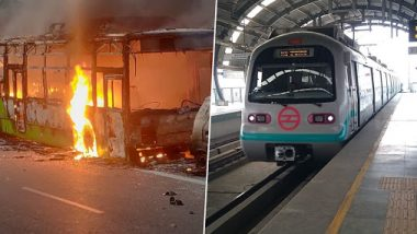 DMRC Shuts 5 Metro Stations After CAA Protesters in Delhi Go on Rampage, Set Buses Ablaze