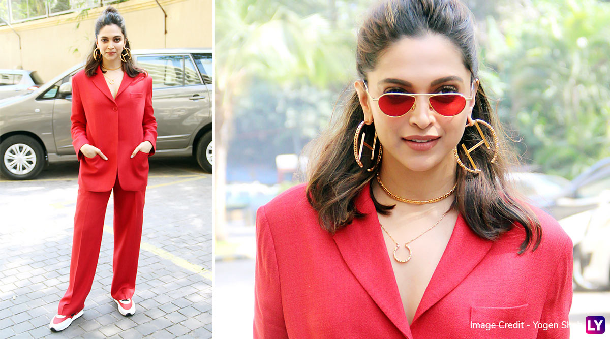 Oo La La! Deepika Padukone's Got That Classy Thing Going On With Red, This Time It's a Suit!