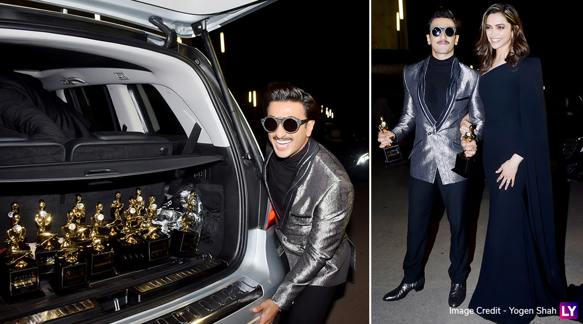 Star Screen Awards 2019: Sorry Deepika Padukone But We Like Ranveer Singh's PDA With Gully Boy Winners' Trophies More! (View Pics)