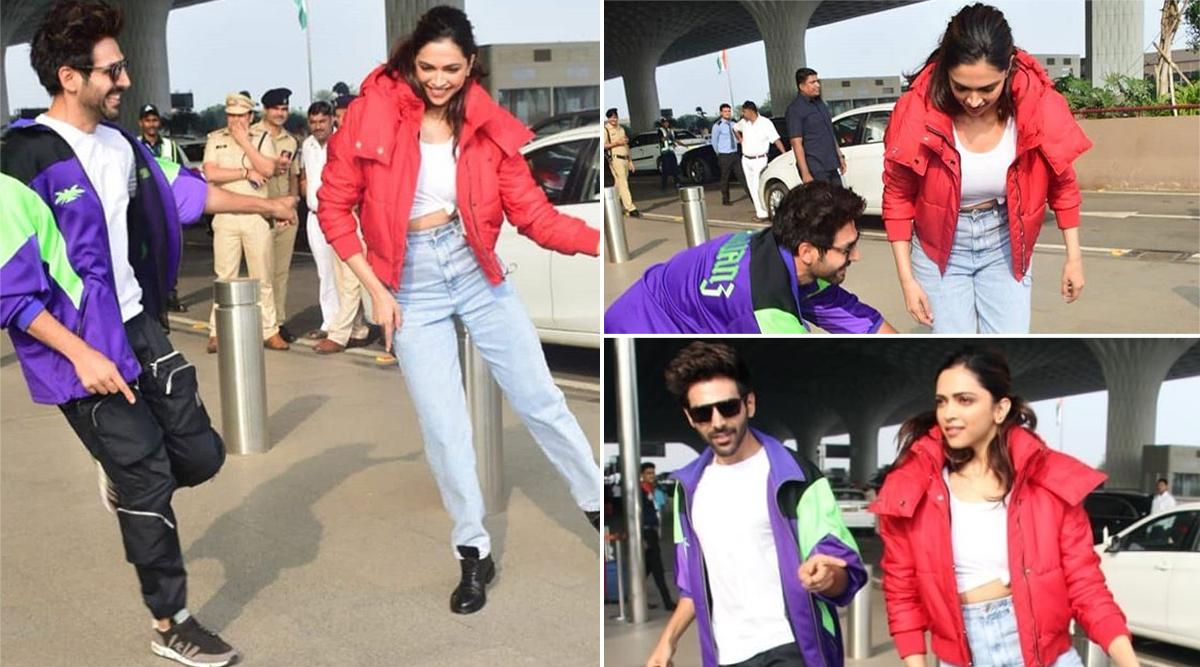 Deepika Padukone Completes #DheemeDheemeChallenge By Kartik Aaryan Right at Mumbai Airport! (Watch Videos)