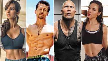 Year Ender 2019 on Celeb Fitness: From Tiger Shroff, Disha Patani, Dwayne Johnson to Gal Gadot, Here's Look at Workout Videos of Celebs That Are GOALS!