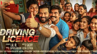 Driving Licence Movie Review: Prithviraj Sukumaran and Suraj Venjaramoodu Starrer Is A Laughter Riot; Lal Jr Directorial Gets A Thumbs Up From Fans