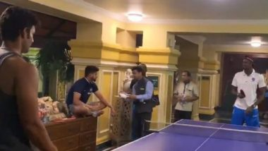 Shivam Dube Plays Table Tennis With Jason Holder Ahead of India vs West Indies, 3rd ODI 2019 (Watch Video)