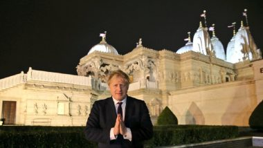 UK PM Boris Johnson Visits Swaminarayan Temple in Neasden, Vows to Partner With PM Narendra Modi to Build New India