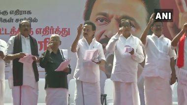 Anti-CAA Protest: DMK, Allies Take Out Rally Against Citizenship Amendment Act in Chennai