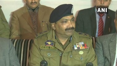 Pakistan Repeatedly Trying to Send Terrorists from Launching Pads, Such Attempts Will Be Foiled, Says J&K DGP Dilbag Singh