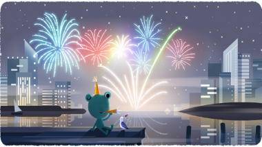 New Year's Eve 2019 Google Doodle Featuring 'Froggy - the Weather Frog' Ahead of Leap Year 2020 Is Too Cute To Miss