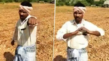Karnataka Farmer, Pradeep Becomes Internet Sensation for Singing Justin Beiber's Song 'Baby' (Watch Video)