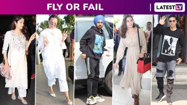 Fly or Fail: Akshay Kumar, Diljit Dosanjh, Sidharth Malhotra Ace the Athleisure Vibe, Sonakshi Sinha and Janhvi Kapoor Go for Ethnics, Alia Bhatt and Kriti Sanon Keep It Chic and Casual! (View Pictures)