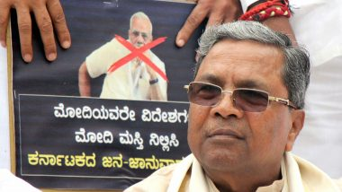 CAA Protests in Mangalore: Siddaramaiah Gets Notice From Police Commissioner, Asked Not to Visit Violence-Hit Mangaluru