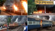 West Bengal Unrest: Five Empty Trains Torched Up in Murshidabad as Anti-CAB Protests Turn Violent; Watch Videos