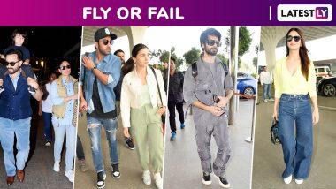 Fly or Fail: Kareena Kapoor Khan, Saif Ali Khan, Ranbir Kapoor, Alia Bhatt, Shahid Kapoor, Jacqueline Fernandez Amp Up Travel Style Vibe!