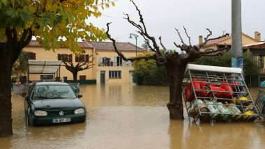 France Hit by Massive Rainfall, 60,000 Homes Left Without Power; Mediterranean Island of Corsica Put on Alert