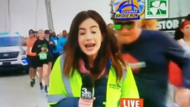 Georgia Journalist's Butt Was Groped by Youth Minister on Live TV While She Was Reporting on Savannah Bridge Run!