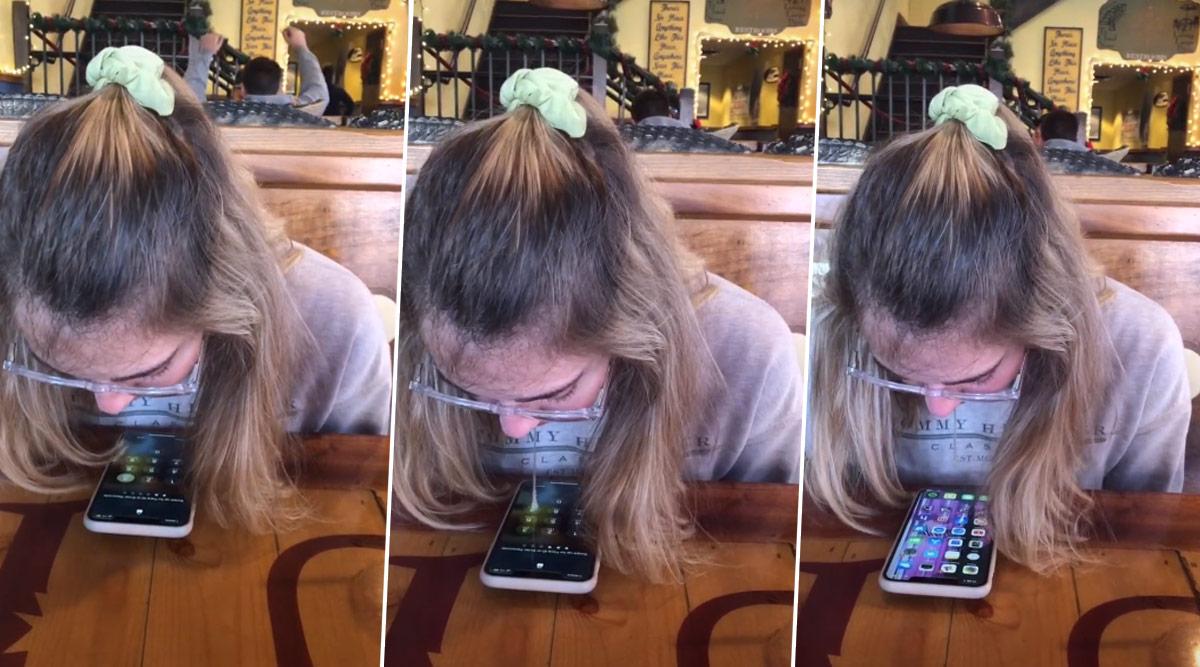 Girl Unlocks Phone Using Her Saliva, Boyfriend Shows Off Her 'Talent' on TikTok (Watch Video)