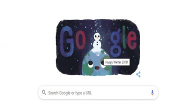 Winter Solstice 2019: Google Comes Up With Snowy Doodle To Mark Beginning of Winter Season in Northern Hemisphere