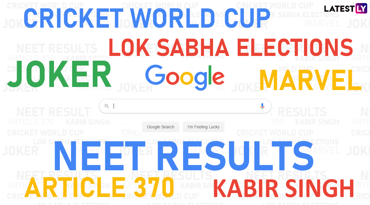 Cricket World Cup, Lok Sabha Elections, Chandrayaan 2 Top the Most-Searched Queries in Google Year in Search 2019 India List