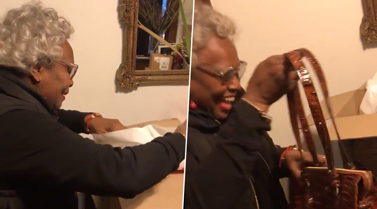 Grandmother is Winning The Internet With Her Over-Excited Reaction on Receiving a Purse She Desired Since 20 Years! (Watch Cute Video)