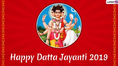 Datta Jayanti Images & HD Wallpapers For Free Download Online: Wish Happy Dattatreya Jayanti 2019 With WhatsApp Stickers and Wishes in Marathi