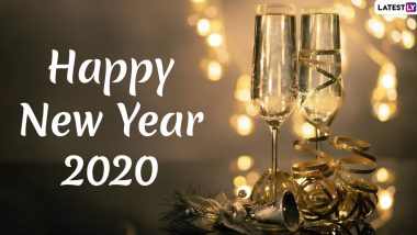 Happy New Decade 2020 Greetings & HNY Images: WhatsApp Stickers, Quotes, SMS and Hike GIF Messages to Send on January 1