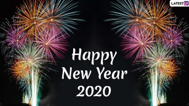 Happy New Year 2020 Images & HD Wallpapers For Free Download Online: Wish on New Year's Eve With WhatsApp Stickers, GIF Greetings and Messages