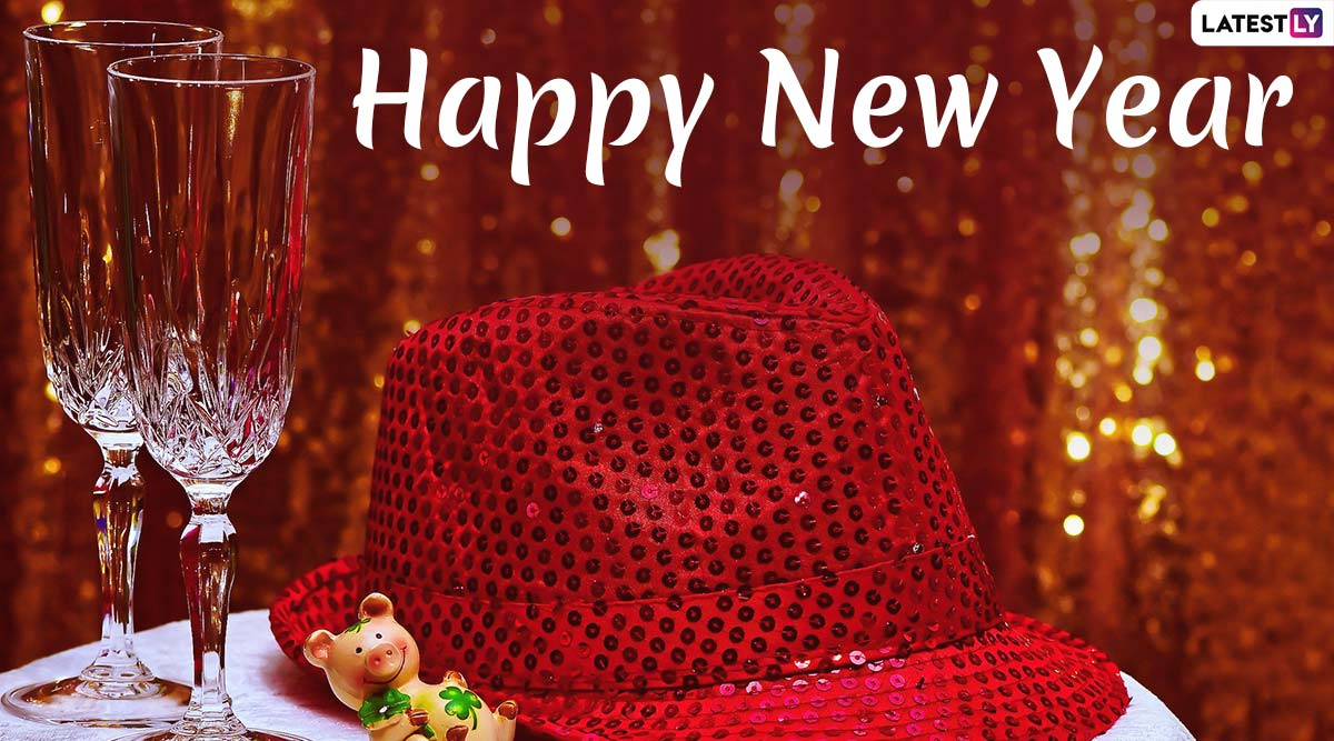 Happy New Year 2020 Wishes in Hindi & New Year's Day Photos: Greetings, WhatsApp Stickers, SMS, Hike GIF Images, Facebook Quotes and HNY Messages to Send on NYE