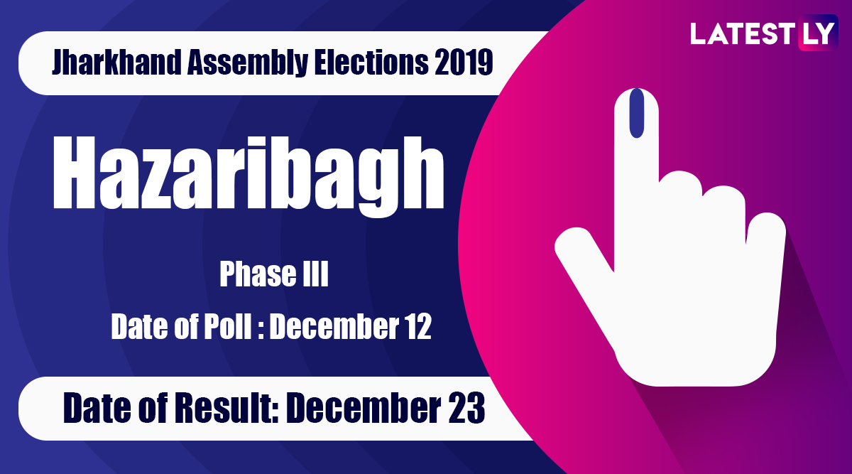 Hazaribagh Vidhan Sabha Constituency in Jharkhand: Sitting MLA, Candidates For Assembly Elections 2019, Results And Winners