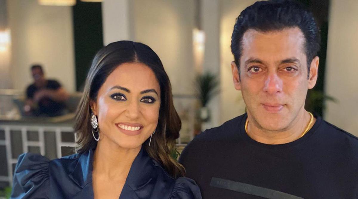 Bigg Boss 13: 'Miss' Hina Khan Meets 'Mr' Salman Khan To Promote Raanjhana With Priyank Sharma, Gets Super Nostalgic! (View Pics)