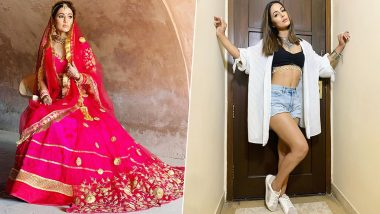 Hottie to Beauty! Hina Khan's Latest Pics From Flaunting Washboard Abs to Dressing Up As True India Bride Are Stunning