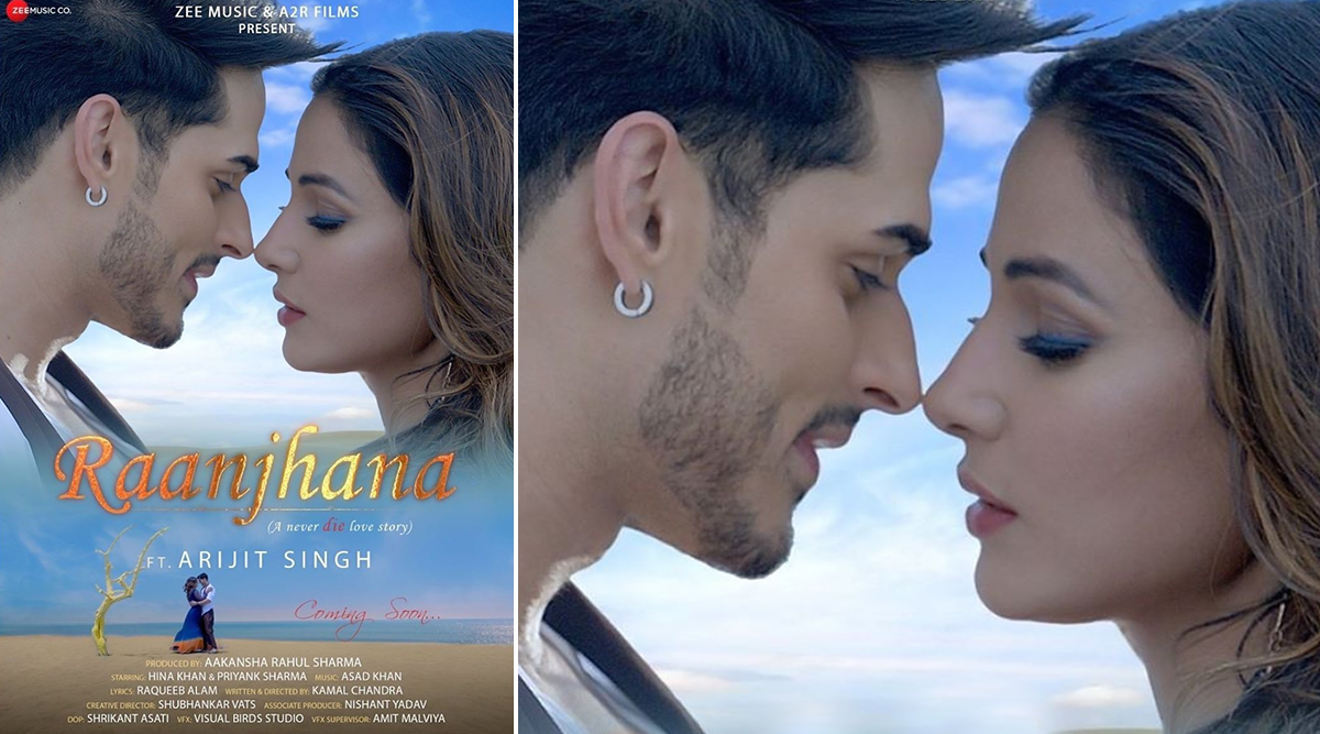 Raanjhana: Hina Khan and Priyank Sharma's Cosy Love on the New Poster of the Music Video Is Sizzling Hot (View Post)