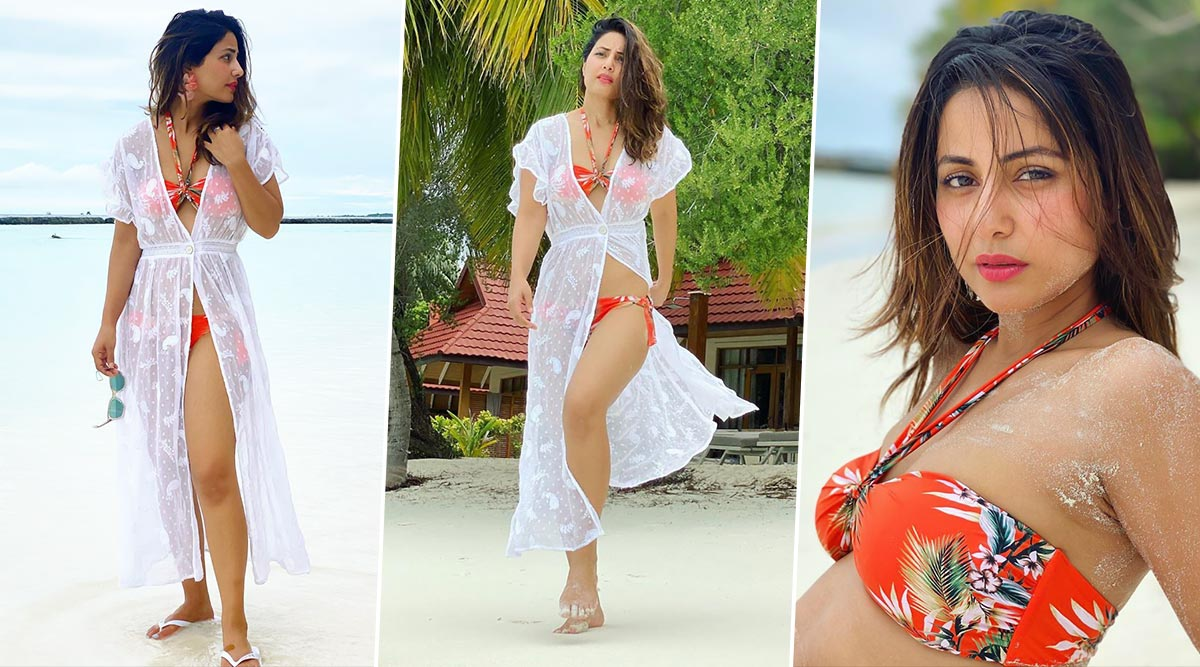 Hina Khan Hits The Maldives Beach In Sexy Bikinis; Her Underwater Pics Just Cannot Be Missed