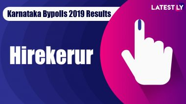 Hirekerur Bypoll 2019 Result Live: BC Patil of BJP Wins MLA Seat