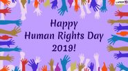Human Rights Day Images & HD Wallpapers for Free Download Online: Wish Happy Happy Human Rights Day 2019 With WhatsApp Stickers, Quotes & GIF Greetings
