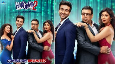 Hungama 2 First Poster: Paresh Rawal, Shilpa Shetty, Meezaan Jaffrey and Pranitha Subhash Gear Up For The Unlimited Confusion!