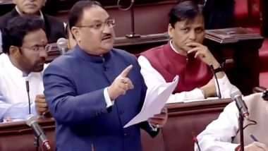 Citizenship Amendment Bill 2019: BJP Working President JP Nadda Says 'We are Following Manmohan Singh' During CAB Debate in Rajya Sabha