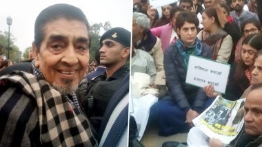 Jagdish Tytler Seen in Priyanka Gandhi's Dharna Against Police Assault on Protesting CAA Students, BJP Condemns